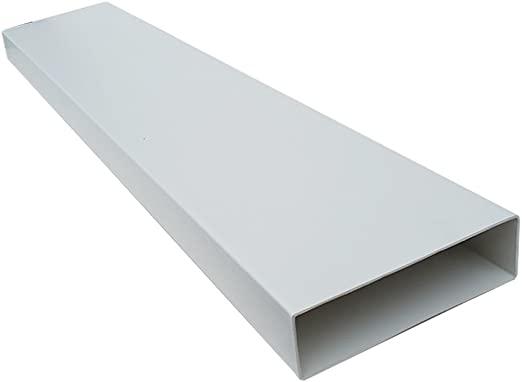 Kair SYS-204 DUCVKC5629 - Tubo plano rectangular para conductos (204 mm x 60 mm, 2 m de longitud), color blanco: Amazon.es: Hogar