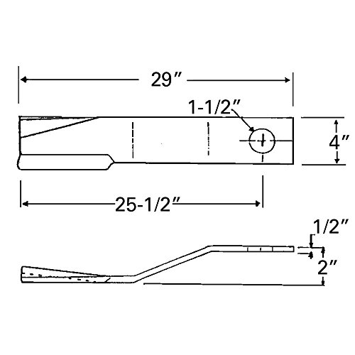 Rotary Cutter blade for XH-1500 V-1280 S-150 5026 by Aftermarket Universal Products