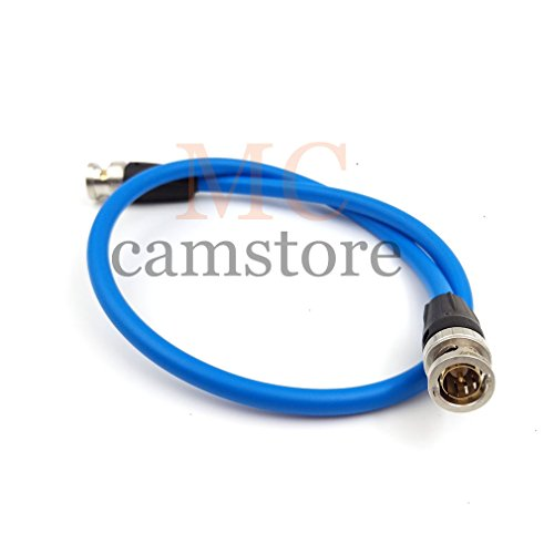 MCCAMSTORE SDI Video Cable Neutrik BNC to BNC Coiled Cable SmallHD BNC Cable Canare SDI Cable -blue (50cm - 19.7in) ()