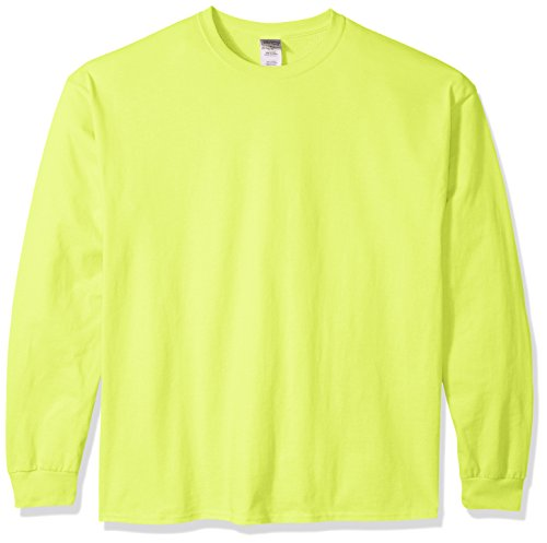 - Gildan Men's Ultra Cotton Jersey Long Sleeve Tee Extended Sizes, Safety Green, XXX-Large
