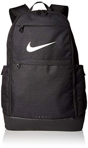 Nike College Bags (NIKE Brasilia Backpack, Black/Black/White, X-Large)