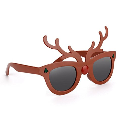 OVERMAL 2017 Funny Christmas Elk Glasses Fancy Dress Party Decoration Costume Toy (Play On Words Halloween Costumes 2017)