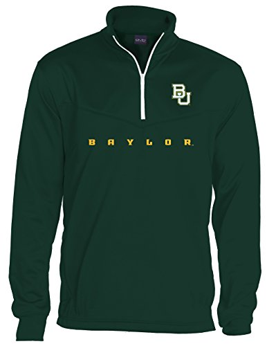 - Old Varsity Brand NCAA Baylor Bears Quarter Zip Poly Fleece, Large, Forest Green