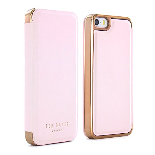 Kids Dress Up Uk (Official Ted Baker SS16 Folio Case for Apple iPhone SE with in Nude with Built in Mirror for Women / Girls iPhone SE Case in Leather Finish - SHAEN - Nude / Rose Gold)