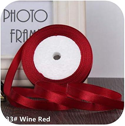 kawayi-桃 25ヤード/ロールグログランサテンリボン結婚式のクリスマスパーティーの装飾6mm-40mm DIY弓クラフトリボンカードギフト-Wine Red-40mm