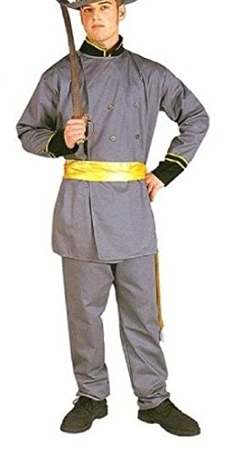 Confederate Flag Halloween Costume (OvedcRay Confederate General Lee Adult Costume Civil War Soldier Captain Uniform)