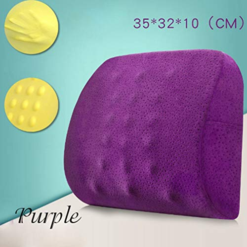 MEIZOKEN Memory Foam Velvet Back Seat Cushion Pillow for Office Home Chair Seat Massage Cushions For Backbone Nap Rest