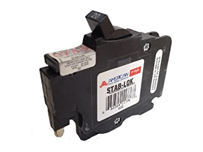 American/Federal Pacific Circuit Breaker, 1-Pole 20-Amp Thin Series