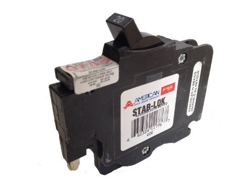 American/Federal Pacific Circuit Breaker, 1-Pole 20-Amp Thin (Thin Federal Pacific Breaker)