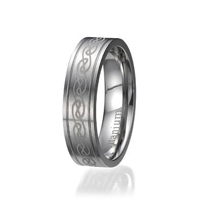 6mm Herren Ring Titan Titanium Trauringe Ehering Verlobungsring