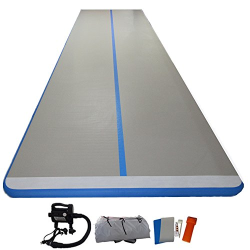 ARCADIAW Inflatable GYM Mat Home Air Floor Inflatable Tumbling Mat for Gymnastics Inflatable Tumbling Mat for Gymnastics Inflatable Air Track 5m x1m x10cm by ARCADIAW