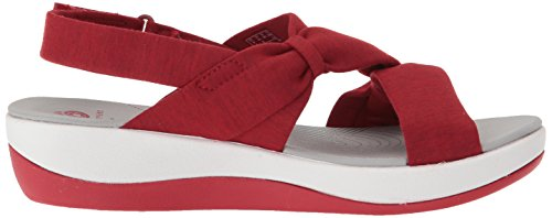 Primrose Heathered Fabric Arla Clarks Sandals Red Women's 4EfHOf
