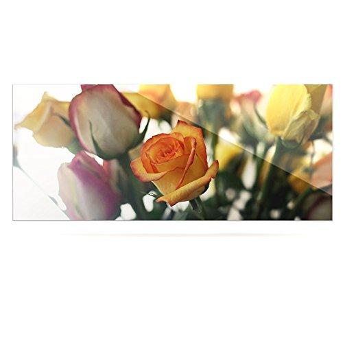 24 x 36 Kess InHouse Beth Engel Sweet Reminder Flowers Yellow Luxe Rectangle Panel