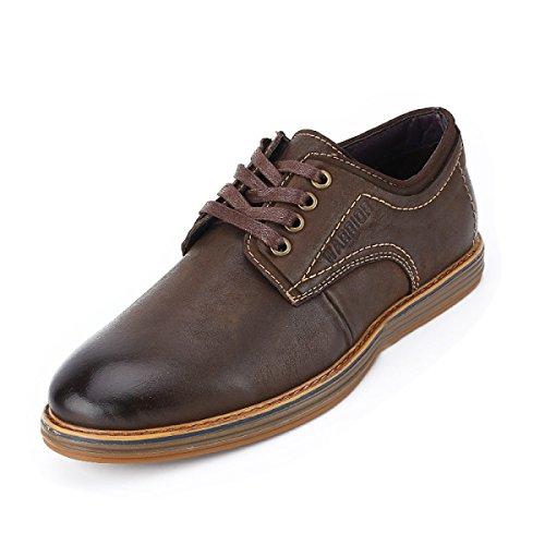 Simples Zapatos De De Resistentes Inferiores Desgaste Hombres Bajos Zapatos OEMPD De Hombres Cuero Casuales Brown Al wgzX0Y