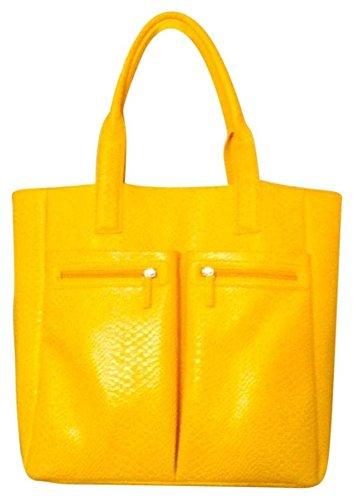 neiman-marcus-faux-croc-yellow-tote-bag