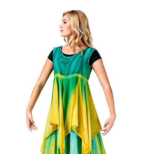 Women's Worship Handkerchief Dress,WC104SKWTPS,Sky/White,PS