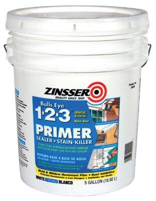3 Primer Sealer - Zinsser 02000 5 Gallon Bulls Eye 1-2-3 Primer Sealer Stain Killer