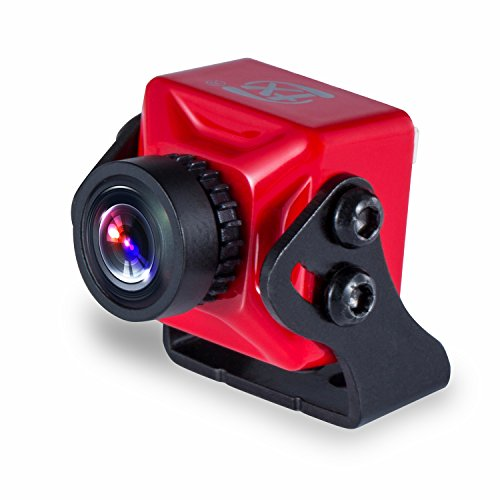 FXT T71 Mars S 1000 TVL Micro FPV Camera 1/3 CMOS with Smart OSD WDR for RC Drone Quadcopter (Red)