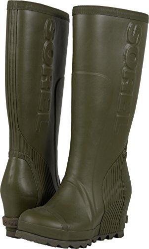 Sorel Joan Rain Wedge Tall Boot - Women's Nori / Black 8