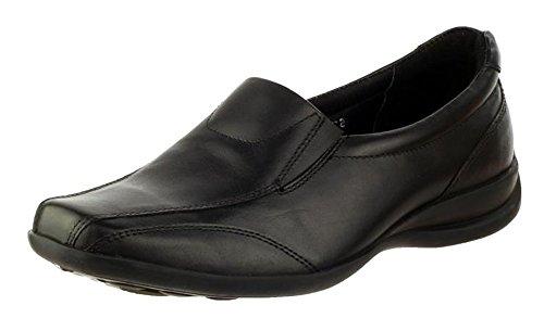 Amblers Ladies Slip Leather Slip Shoe Black Gusset on Twin On OFAOqrw