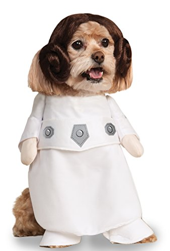 Dog Princess Costumes (Rubies Costume Star Wars Collection Pet Costume, Princess Leia, Medium)