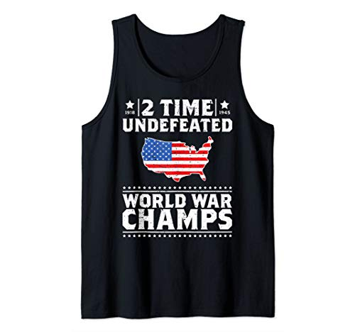 Back To Back 2 Time Undefeated World War Champs Gift Tank Top