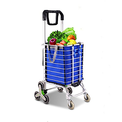 2c9b816198 HCC& Shopping Cart Multipurpose Portable 360 Degree Rotation Collapsible  Trolley Dolly Crystal wheel Stair Climbing Shopping