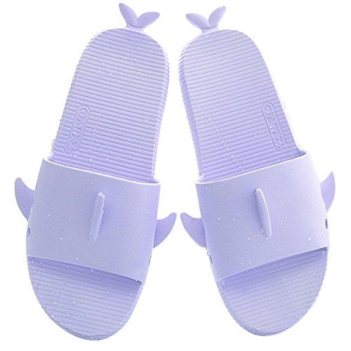 Maison DéRapantes Pantoufles en Purple Anti Sandales Pantoufles de D L éTé Fascigirl Forme Requin BwgI0w