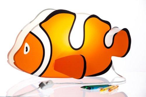 Nursery Lamp & Kid's Room Lamp - Colorful LED Decorative Lamp - Clownfish Nemo Design