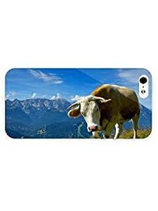 3d Full Wrap Case for iPhone 5/5s Animal Cow74