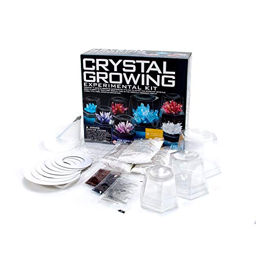 4M 5557 Crystal Growing Science Experimental Kit - Easy DIY Stem Toys Lab Experiment Specimens, A Great Educational Gift for Kids & Teens, Boys & Girls