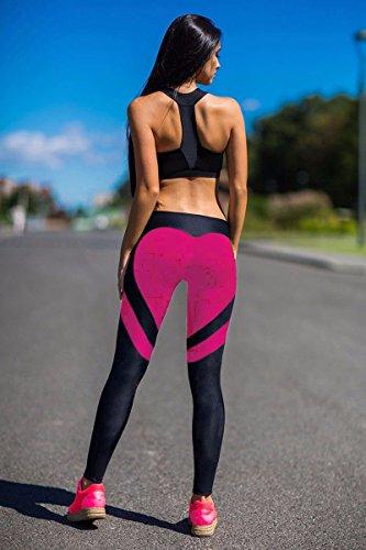 fe16fc322c Fittoo Women's Heart Shape Yoga Pants Sport Pants Workout Leggings Sexy  High Waist Trousers - Rose