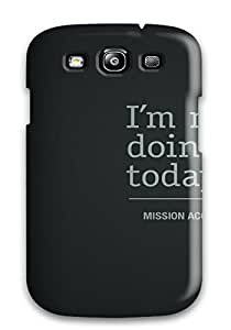 Cute Appearance Cover/tpu OrBXdfg13830MQwyp I'm Not Doing Shit Today Case For Galaxy S3