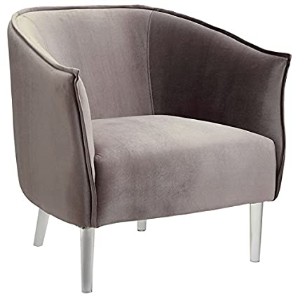 America Accent Chairs.Amazon Com Furniture Of America Sunny Accent Chair In Gray Kitchen