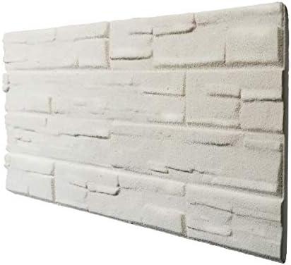Piedra blanca panel de imitación piedra de poliestireno expandido resinado medida 100 x 50 cm grosor 2 cm: Amazon.es: Bricolaje y herramientas