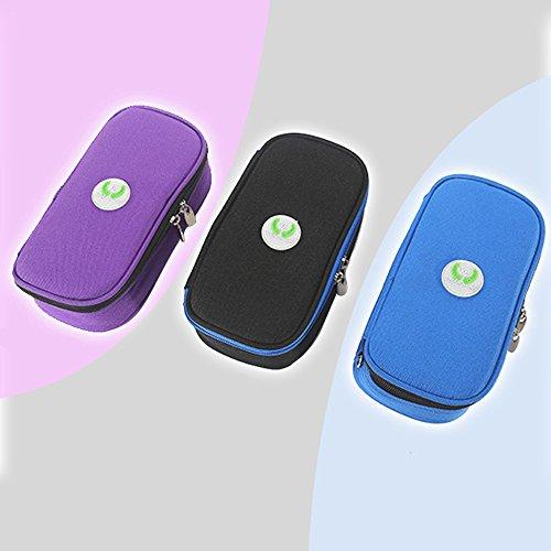 Binglinghua Insulin Pen Case Pouch Cooler Travel Diabetic Pocket Cooling Protector Bag (black) by Binglinghua® (Image #2)