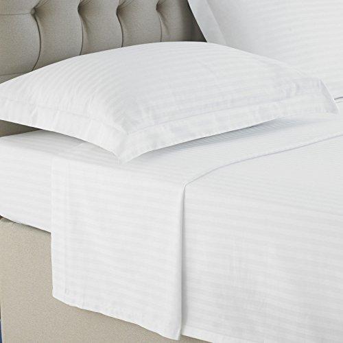 Precious Star 600 Thread Count 2-Piece Pillow Shams White Stripe Euro (26'' x 26'') Size 100% Egyptian Cotton, Expedited Shipping