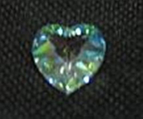 Leaded Crystal Austrian - AKBIK Heart-Facet-14mm/Aurora