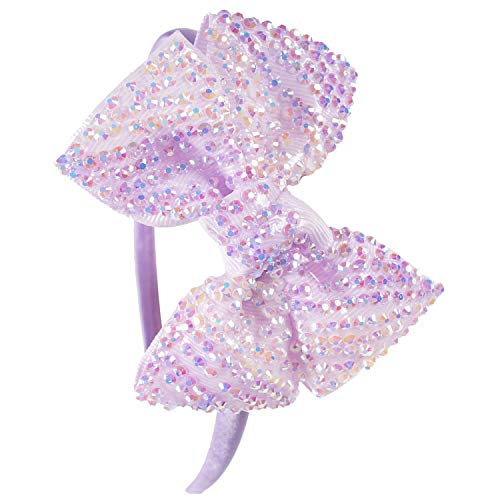 Princess Girls Rhinestone Bows Headbands Boutique Children Hair Bow Hairbands Tiara for Kids Children Party Hair Accessories -