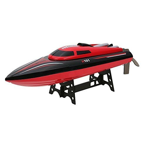 Blexy RC Boat 2.4Ghz Radio Remote Control Electric Racing Boat 30KM/H Super High Speed with LCD Screen for Pools and Lakes ()