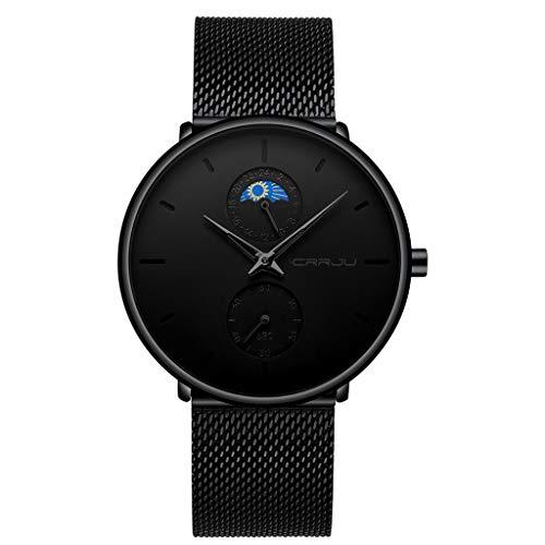 LUCAMORE Mens Watches Fashion Minimalist Waterproof Quartz Analog Watch Designer Luxury Business Classic Dress Wrist Watch