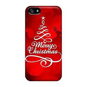 Premium Protection Merry Christmas New Case Cover For Iphone 5/5s- Retail Packaging