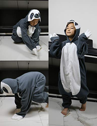 393ba94d ifboxs Kids Animal Onesie Pajamas Sloth Christmas Cosplay Costume for Girls  and Boys(Grey,5)