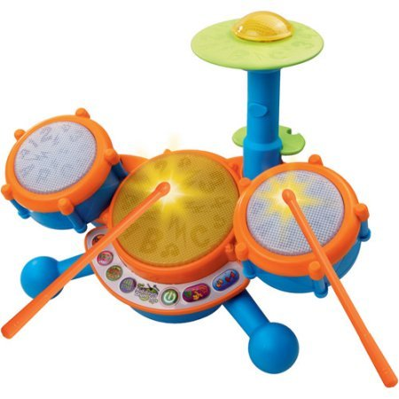 Vtech - KIDIBEATS LEARNING DRUM SET - Learn to the Beat of the Music! TEACHES: Letters, Phonics, Counting, Memory, Music by VTech