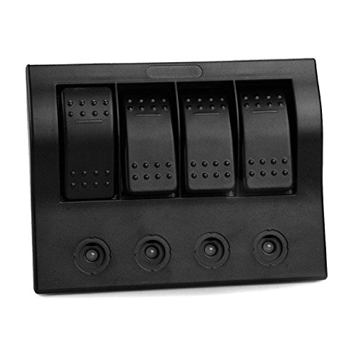 iztoss 4 gang marine boat bridge control panel led rocker. Black Bedroom Furniture Sets. Home Design Ideas