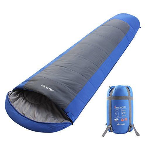 SEMOO Lightweight Mummy Camping Sleeping Bag with a Compression Bag