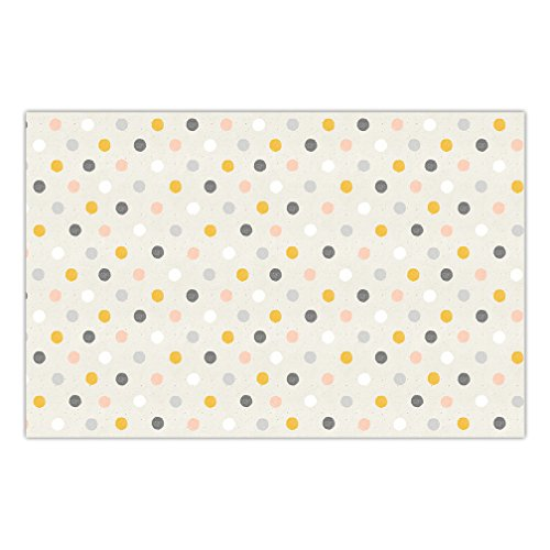 Baby Shower Disposable Paper Placemats Pack of 25 Fun Polka Dots Table Setting Girl Boy Gender Neutral Infant Brunch Dinner Newborn Sprinkle Parties 17