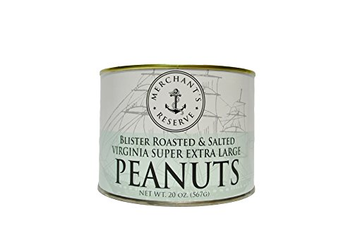 Blister Roasted & Salted Virginia Super Extra Large Peanuts, 20 oz can (Extra Large Peanuts Tin)