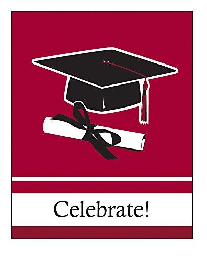 Creative Converting Graduation Invitation Burgundy