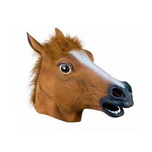 Fly Jiangnan Style Dog Ma Jun Halloween Animal Hood COS Mask Horse Head Mask mask ()